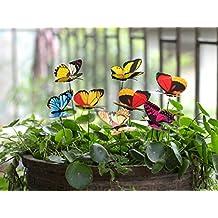 Estacas de mariposa para patio exterior, maceta de flores, por Ginsco, 25 piezas, mariposas de decoración para jardín o decoraciones navideñas