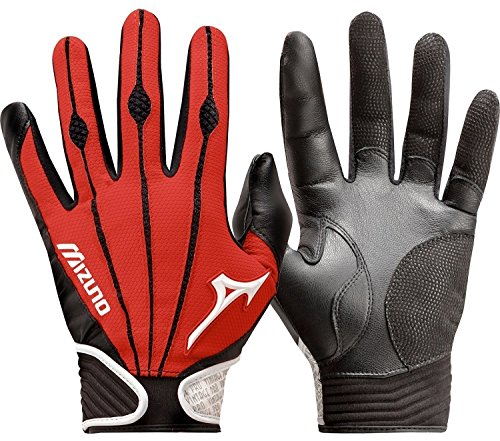 Adult Bat Gloves (Mizuno Adult Vintage Pro Batting Gloves, Red, X-Large)