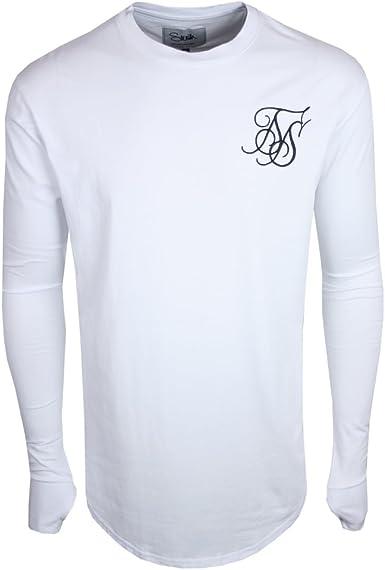 Sik Silk Long Sleeve Tee-Camiseta Hombre Blanco Wht XL: Amazon.es: Ropa y accesorios