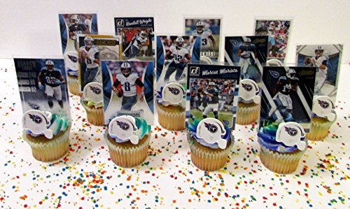 TENNESSEE TITANS 24 Piece Birthday Cupcake Party Favor Set