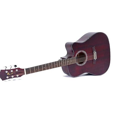 Guitarra 41 \Material de diapasón de palisandro mate faltante ...