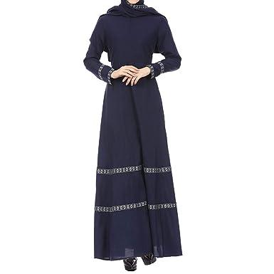NPRADLA Large Falda Partido Vestido Maxi Vintage de Encaje de ...