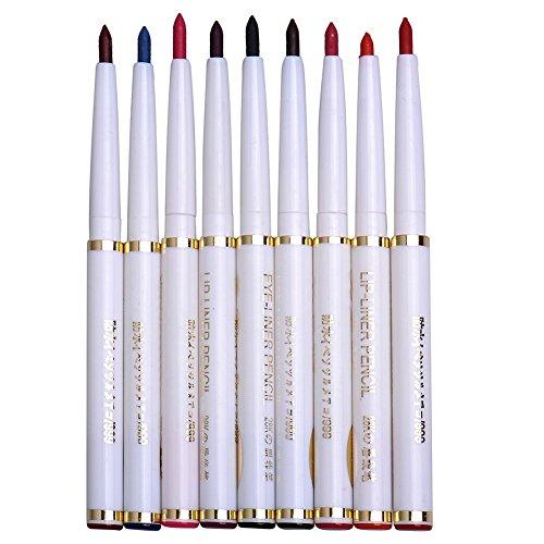 9er Set Lipliner Wasserdichte Lip Liner Lippenstift Lippenkonturenstift Eyeliner Liner Gel 9 Farben