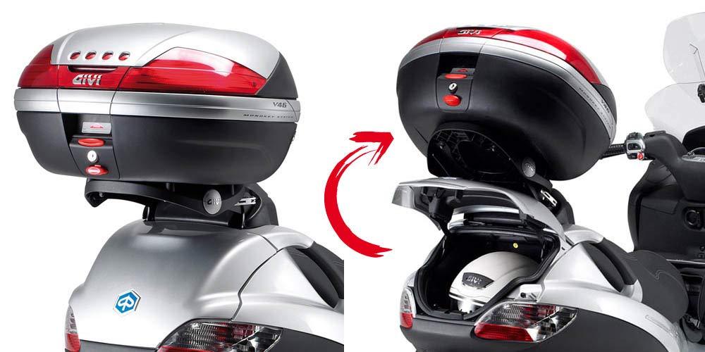 Noir Givi Support Valise Top Case Monokey Piaggio MP3 125-250-400-500 //LT