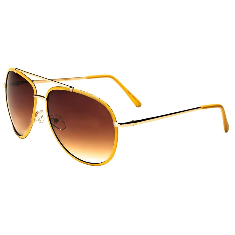 3c5340b8fb 30%OFF Yellow Large Classic Retro Fashion Aviator s Vintage Designer  Sunglasses Black