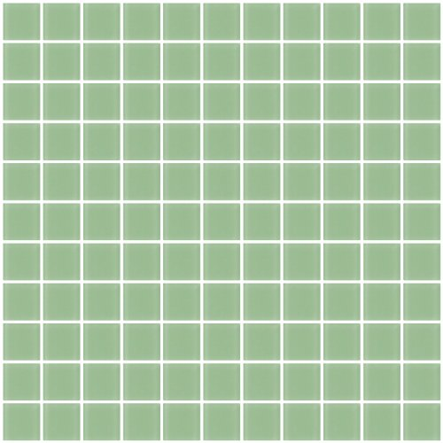 Susan Jablon Mosaics - 1 Inch Retro Mint Green Frosted Glass (Frosted Glass Tiles)