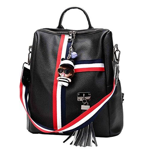 JUND - Bolso mochila para mujer Blanco Weiß Negro