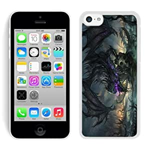 iPhone 5C Case,2015 Hot New Fashion Stylish Dragon 1 White Case Cover for iPhone 5C