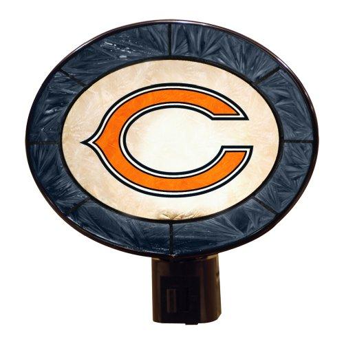 Chicago Bears Art Glass Night Light