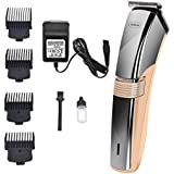 Artbros Hair Clippers For Men, Cordless Home Trimmer Cutting Kit with Rechargeable Battery,Beard Trimmer with 4 Combs,Gold