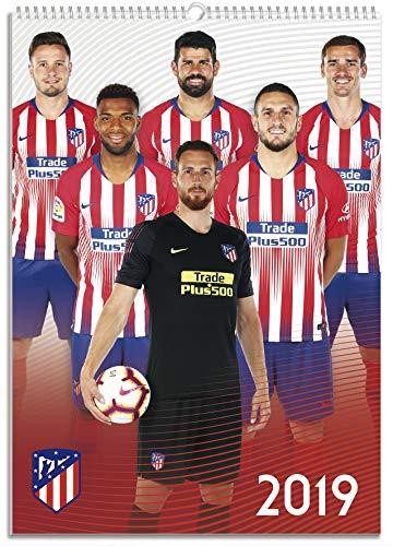 Grupo Erik Editores CPA319003 - Calendario 2019 Atlético de Madrid, 29 x 41 cm, A3