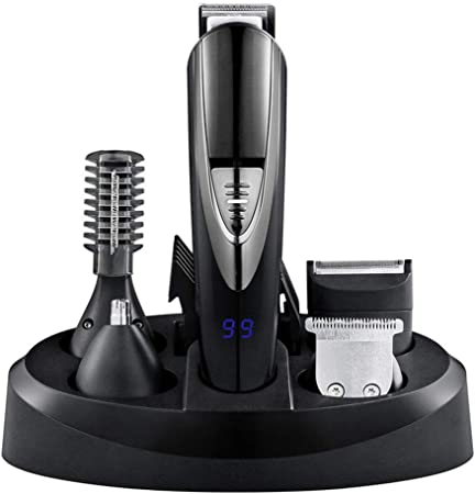 GYFHMY Recortador de Pelo cortadoras para Hombre Barba Peine eléctrico Autocortado Corte de Pelo Compacto Recorte y Personal de Aseo Trimmers para Hombres Shavers Nariz Oreja Recargable: Amazon.es: Hogar