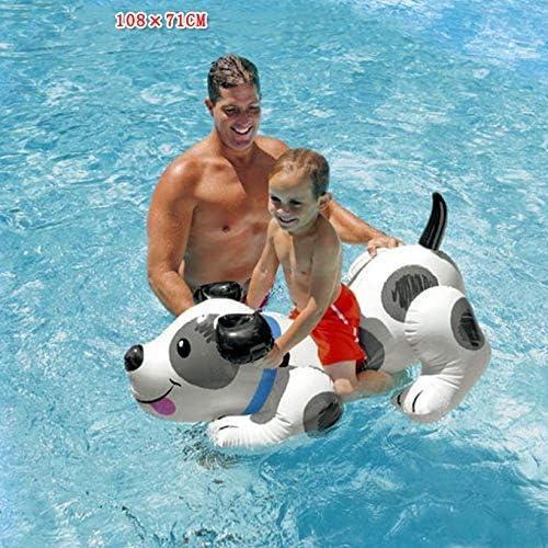 JLBao Los niños juegan con el Agua, un Anillo de natación Inflable, un Perro de Juguete Inflable, un Juguete acuático, una Actividad de la Piscina Entre Padres e Hijos -108 × 71 cm