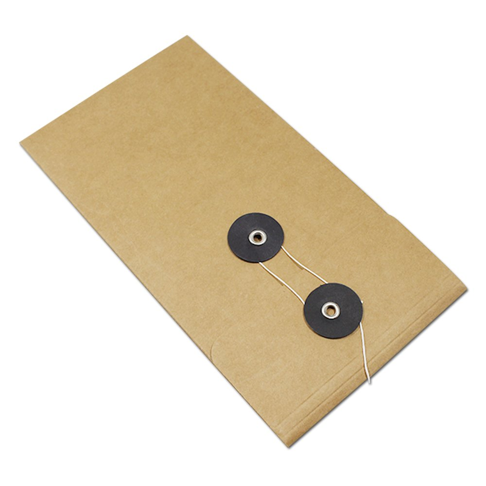 Kraft Paper Expanding File Jackets Document Pockets Contract Take Out Holder Case Cardboard Filing Folder Accessories Office Products Educational Supplies 10.5x21cm (4.1x8.3 inch) (90 Pcs, Black)