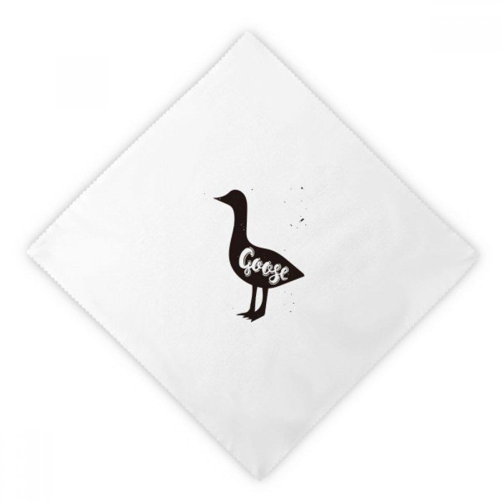 DIYthinker Goose Black And White Animal Dinner Napkins Lunch White Reusable Cloth 2pcs