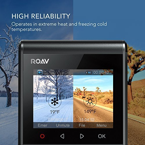 Anker Roav Dash Cam C1, Dashboard Camera Recorder, 2.4'' LCD, 1080P FHD, 4-Lane Wide-Angle View Lens, Built-In WiFi, G-Sensor, WDR, Loop Recording, Night Mode, 2-Port Charger, 32G microSD Card Included by Roav (Image #6)