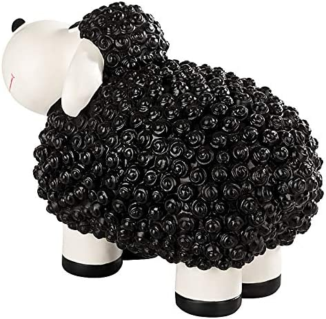 1PLUS factory seconds decorative statue garden statue Molly the Sheep for gardens//outdoor areas Black