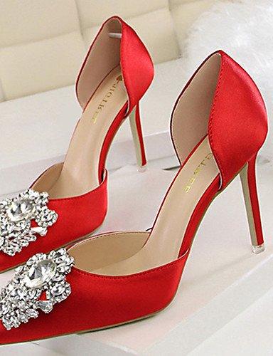 GGX/Damen Schuhe Seide Sommer Heels Heels Casual Stiletto Heel andere schwarz/grün/pink/rot/grau/gold black-us5.5 / eu36 / uk3.5 / cn35
