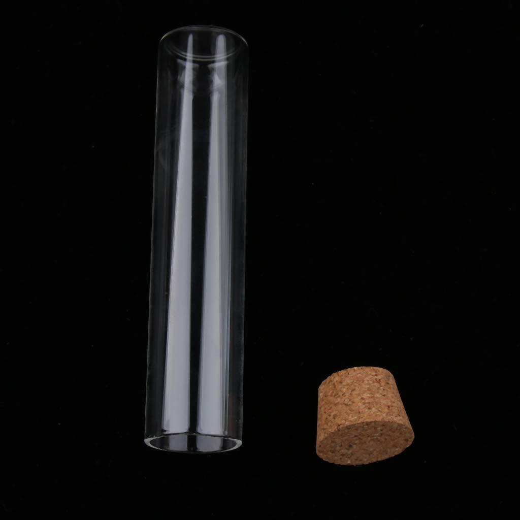 F Fityle 10 St/ück Durchsichtige Flache Reagenzgl/äser aus Borosilikatglas mit guter Hitzebest/ändigkeit klar 15x70mm