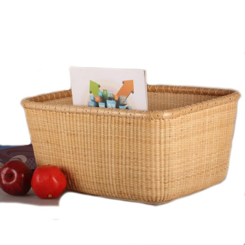 Tengtian Brand, Laundry Basket, Laundry Basket, Storage Basket, Rattan, Chinese Traditional Handicrafts, Casual Style, Natural Environmental Protection by Teng Tian Basket