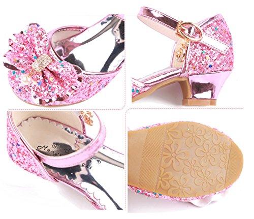 5f329684 Zapatos YOGLY Disfraz de Princesa Zapatos de Tacón Alto Fiesta Sandalias  para Niñas Brillante Princesa Zapatilla ...