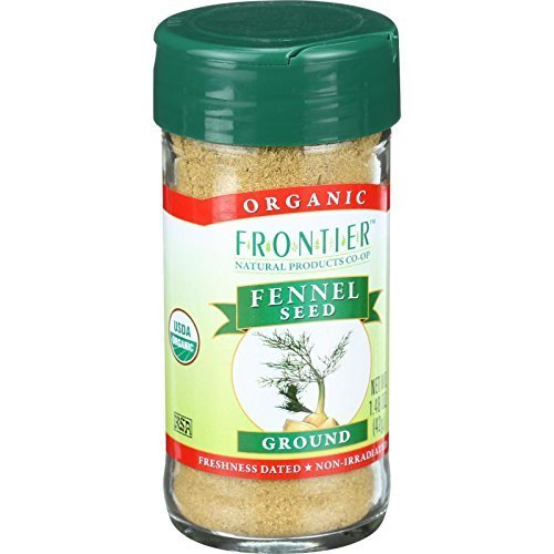 Frontier Herb Organic Ground Fennel Seed, 1.60 Ounce - 6 per case