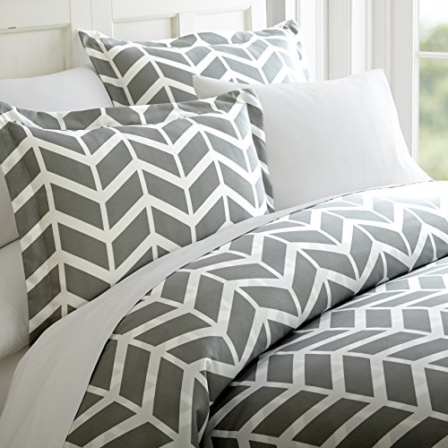 Hotel Collection Ieh-Duv-Arr GR Home Collection Arrow 3 Piece Duvet Cover Set, KING, Gray - Hotel Collection Duvet Sets