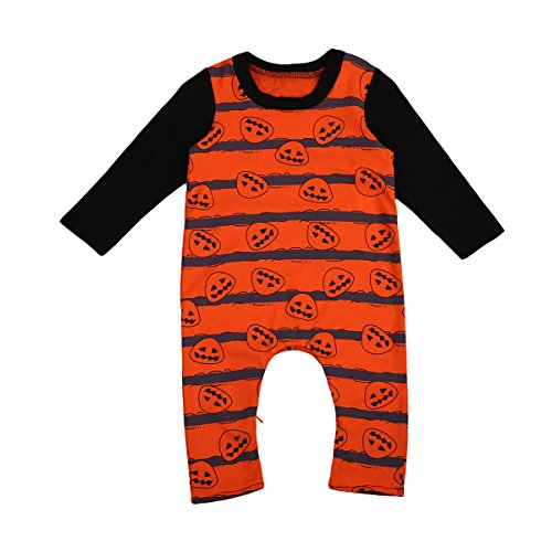Baby Boys Girls Bodysuit Halloween Romper Climbing Clothes (12-18M, (Halloween Bodysuit)