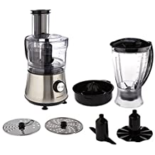Ovente PF6007S Deluxe 8 Cup Multi-Function Food Processor with Blender, Nickel Brushed