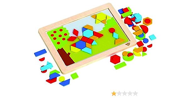 Tooky Toy - Puzzle magnético de construcción - Formas y Colores: Amazon.es: Juguetes y juegos