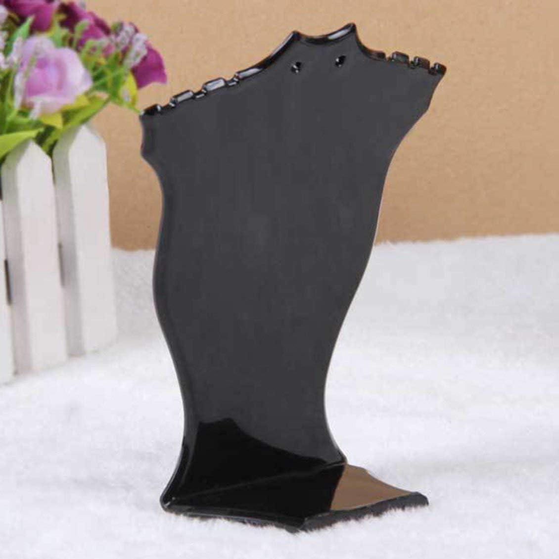 noir En plastique en forme d/éventail collier stand boucle doreille stand bracelet collier bijoux pr/ésentoir bijoux cr/éatif stand