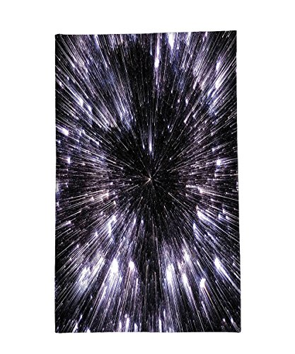 Interestlee Fleece Throw Blanket Galaxy Speed Of Life Space Travel Themed Fantastic Galaxy Wars Universe Science Fiction Futuristic Black White