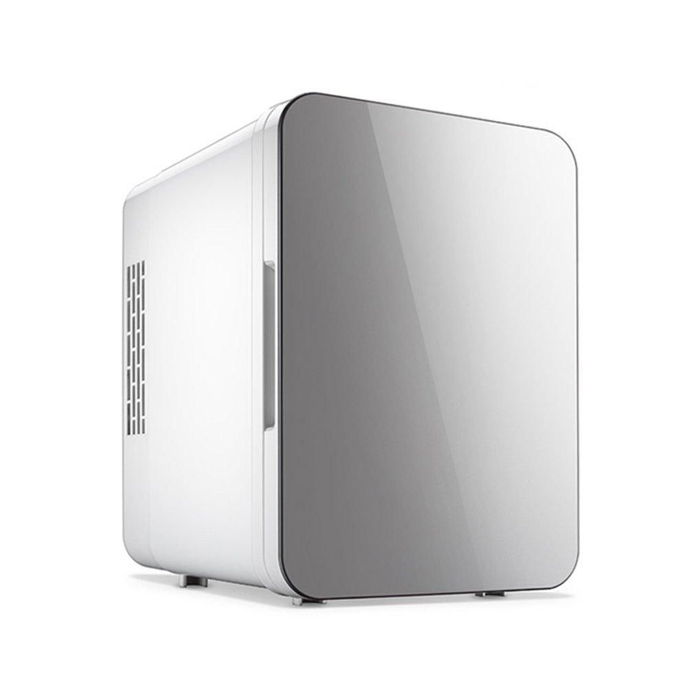 LIQICAI Tragbar Mini Kühlschrank Auto Camping 12V DC (Auto)/230V AC (Zuhause) (Farbe : Silber grau, größe : 18x25x24cm)