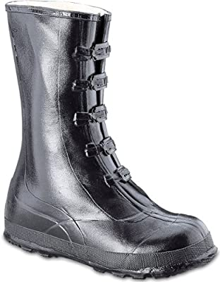 4114bc149935c Amazon.com: Honeywell Safety A351-11 Servus Rubber Hi Overshoe with 5-Buckle,  Size-11, Black: Home Improvement