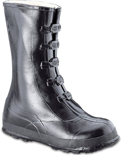 Honeywell Safety A351-9 Servus Rubber Hi Overshoe with 5-Buckle, Size-9, - Buckle Five