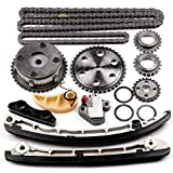 SCITOO L3K9-12-614 Timing Chain Kit Tensioner Guide Rail Crank Gear Cam Gear Oil Pump Compatible Mazda 2.3L Turbo Engine Camshaft VVT Acuator 2006-2013