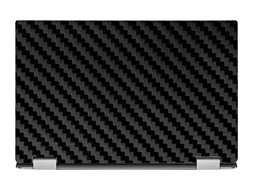Black Carbon Fiber Skin Decal Wrap Skin Case For Dell Xps