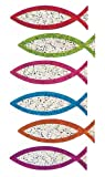 Bulk Roll Prismatic Stickers, Christian Fish Symbol (50 Repeats)