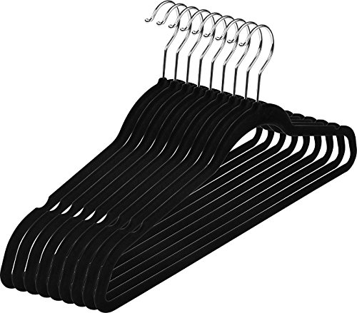 Utopia Home Premium Non Slip Velvet Hangers - 50 Pack - Heavy Duty - Coat Suit Hangers - Black