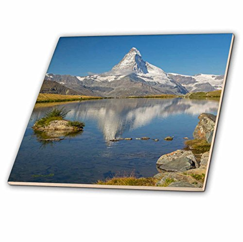 3dRose Danita Delimont - Mountain - Switzerland, Zermatt, Matterhorn reflected in Stellisee - 6 Inch Ceramic Tile (ct_257903_2) by 3dRose