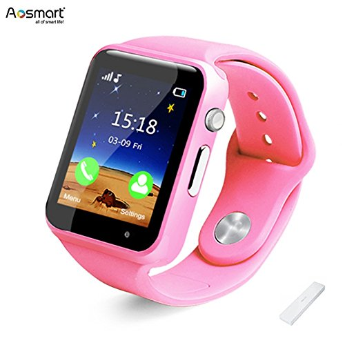 Bluetooth Smart Watch with Camera, Aosmart B23 Smart Watch for Android Smartphones