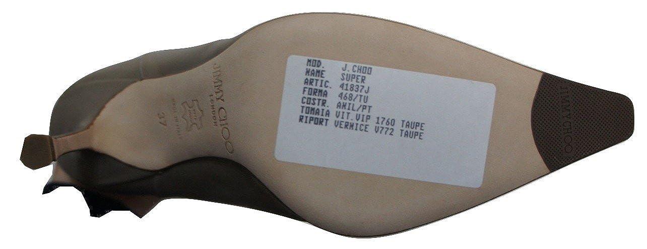 Jimmy Choo Choo Choo quot;Super Taupe alle Leder-Stiefel 16b25c