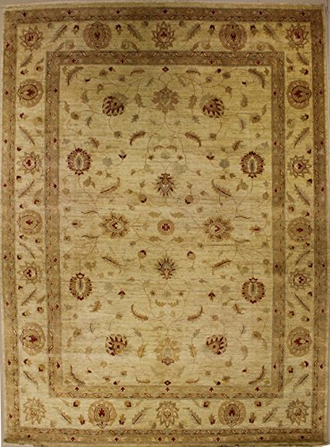 Rug Zigler (9'0 x 12'1 Double Knott Zigler Chobi Design Area Rug with Wool Pile - | a 9x12 Large Rug | An Authentic Hand Knotted Chobi Ziegler Rug made with Vegetable dyes)