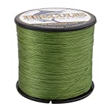 Hercules Braided Fishing Line 1000m 1094yds 10lbs-300lbs Pe Dyneema Superline 8 Strands (Army Green 30lb/13.6kg 0.28mm)
