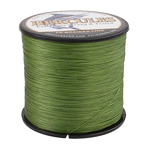 HERCULES Super Cast 1000M 1094 Yards Braided Fishing Line 20 LB Test for Saltwater Freshwater PE Braid Fish Lines Superline 8 Strands
