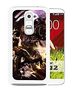 Beautiful And Unique Designed With Cyborg Robot Girl Guns Shooting Destruction (2) For LG G2 Phone Case