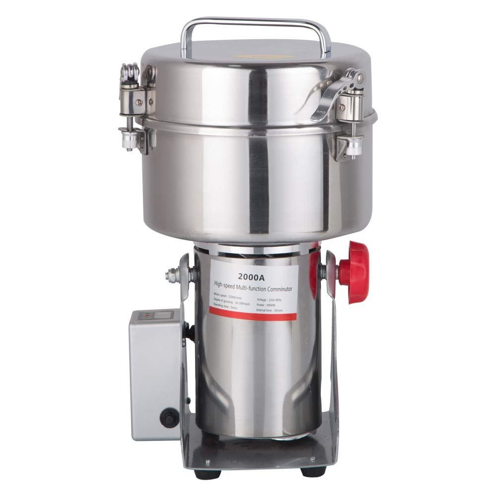 Amazon.com: DaTOOL 2000g Commercial Electric Grain Grinder New LED Didital Display Stainless Steel Electric Mill Ultra-fine Powder Grinding Machine 32000 ...