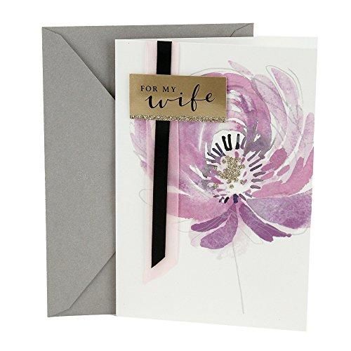 Allstar hilo Tuercas Hexagonales, Flor morada, Hallmark Anniversary Greeting Card to Wife (Flower