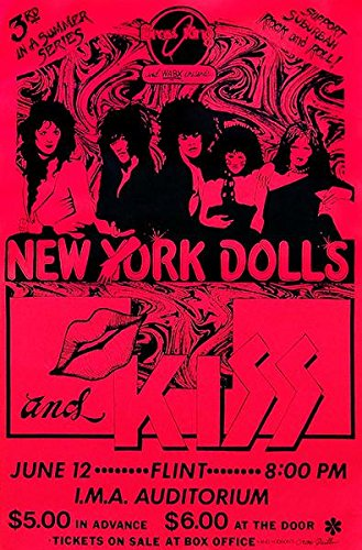 New York Dolls - Kiss - 1974 - Fllint MI - Concert ()