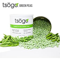 Tsogo Freeze-Dried Green Peas, Large Can 507 grams, Food Storage, Green Smoothies